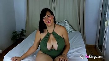 BIG BUSTY Nataly has the time of her life with Jesus Reye's BBC