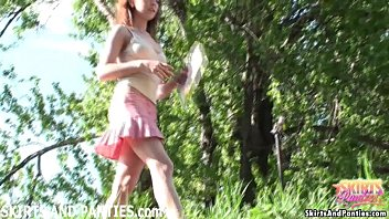 Upskirt girls with not underwear - Farmers daughter lilia flashing you her panties