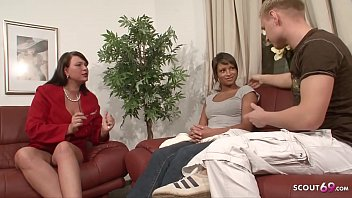 Young Couple Teach to Fuck by German Mature in Threesome 18 min