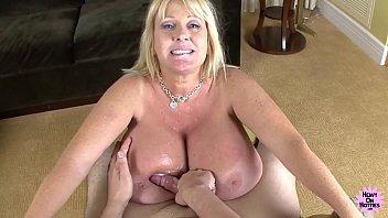 Heavy hitters tits video Mega titted cougar bounces on hard cock
