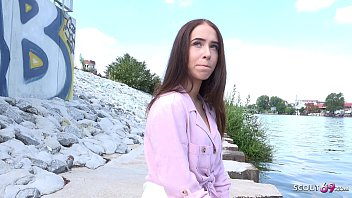 GERMAN SCOUT - PETITE TEEN NATASCHA TALK TO FIRST FUCK AT PICK UP STREET CASTING