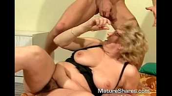 Mature blond gets her pussy eaten and fingered