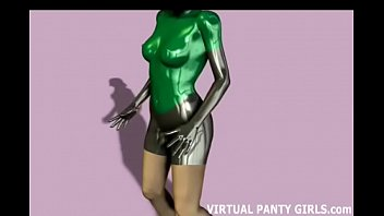 My cyber cat suit is skin tight