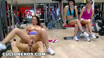 CULIONEROS - Big Tits Redhead Babe Sirale Gets Fucked While Two Girls Watch preview image