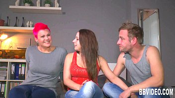 German cuties sharing a hard dick