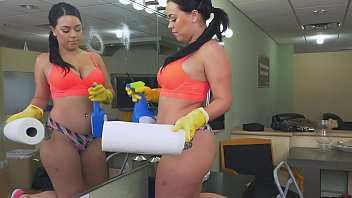 BANGBROS - Latin Maid Kimmy Kush Taking Dick From Her Client On The First Day Of Work