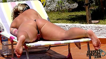 Busty women sunbathing Did you know what she does when she is alone