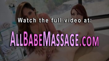 Pretty lesbian gets oral from masseuse