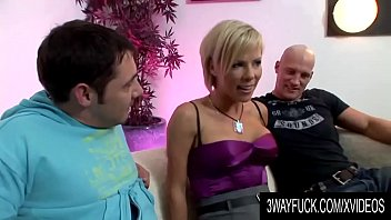 3 Way Fuck - Busty Blonde MILF Kayla Synz in a Hot MMF Threesome
