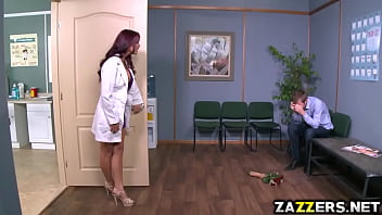 Monique Alexander blowjob her patients thick cock