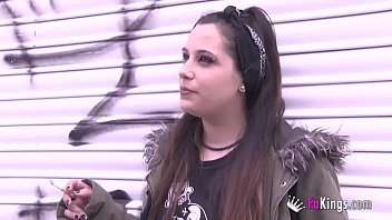 Teen girl piercing - Teens today: a hot punk alternative girls shows herself and gets banged by a latino
