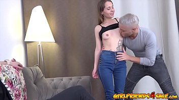 Teenager with big boobs gets spanked and fucked so rough