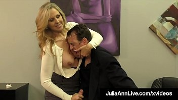 Big Titty Milf Julia Ann Hugs Lucky Dude & Milks His Cock!