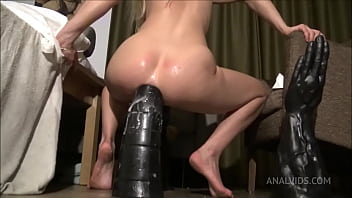 Riding the Tower Dildo, huge insertion SAA024
