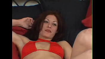 Hot sexy ends with big load of sperm on this brunette babe's face