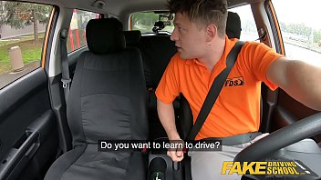 Fake Driving School Cute teen brunette pussy stretched 12 min