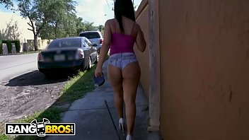 BANGBROS - Rose Monroe Sucks Dick In Public, Gets Her Big Ass Fucked At Home