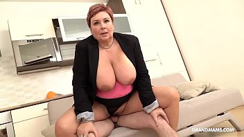 Hot naked german women - Redhead german granny abuses nephew with her big tits
