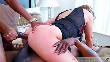 Two 11 inch Big Black Cocks vs White Slut  Drink cum
