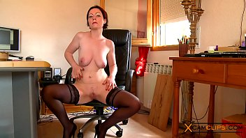 Moon adult Marion moon webcam - babe in stockings plays with her big tits