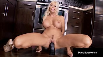 4 wet pussy com Swedish blonde, puma swede bangs 4 dildos in the kitchen