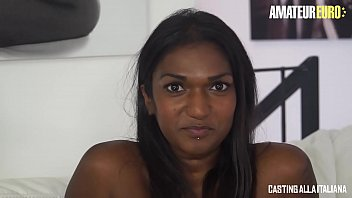 AMATEUR EURO - Passionate Threesome Audition For Curious Maya Secret