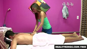 Cute lil asain teen (Alina Li) rubs tugs and rides cock in the back of the shop - REALITY KINGS