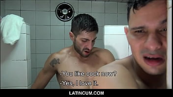 Straight Latino Boy Fucked By Gay Latino Best Friend In Shower For Cash