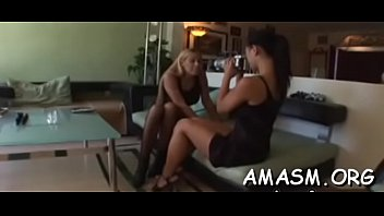 Hot females using guy as their sextoy in femdom amateur clip