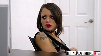 Tiny teen Holly Hendrix gets punished by cop - DigitalPlayground porn thumbnail