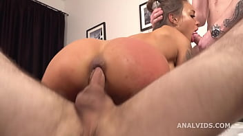Monika Fox 4on1 DAP with Balls Deep Anal, ButtRose, Squirting and Swallow GL374
