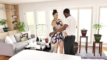 Sultry Asian masseuse Nyomi Star enjoys every second of the sensual fuck massage with black dude Charlie Mac.