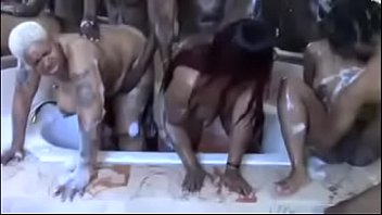 Xxx ladies orgies - Bath time orgy preview
