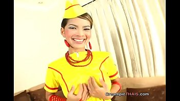 Dripping goo from such a lovely Thai girl thumbnail