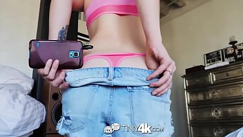 Tiny4k Sexy gamer girl Rina Ellis interrupted for sexy time fuck