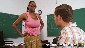 Naughty America - Find Your Fantasy Teacher Carmen Hayes fucking in the desk with her big ass