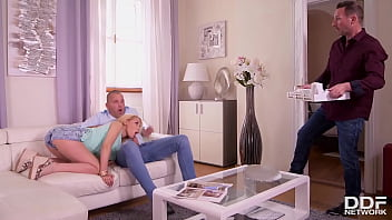 Colombian Cooze Gets Her Clit & Crack Cumified by Bf & His Friend