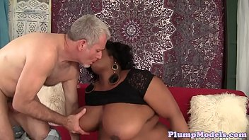 Ebony BBW loves to fuck a hard cock