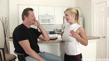 busty blonde Andi Anderson fucks the guy who helped her porn image