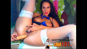 ass  Surrounded by soft toys infantile brunette tames herself with dildo