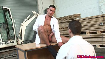 Muscular fudge packer warehouse bum sex