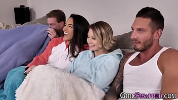 Cute Teens Get Railed In Foursome