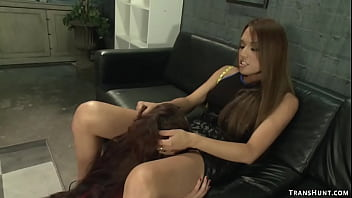 TS shop owner anal fucks client