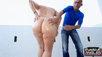 EVASIVE ANGLES Whooty Oiled Booty. Angelina Castro Has Long Black Hair, Great Tits, A Hot Cunt And A Sweet Bubble Butt