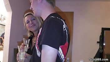 MILF turns youngster into man with his first fuck