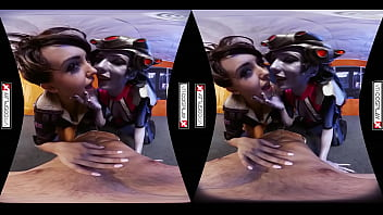Overwatch Cosplay VR Porn starring Zoe Doll and Alexa Tomas in a game breaking threesome!