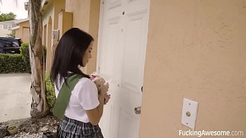 FuckingAwesome - Scout Girl Megan Rain Gets Her Ass Fucked