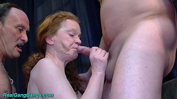 big boob redhead german granny enjoys her first rough groupsex fist and fuck gangbang swinger party orgy