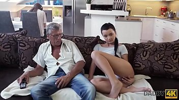DADDY4K. Guy is occupied with computers so why GF fucks his dad
