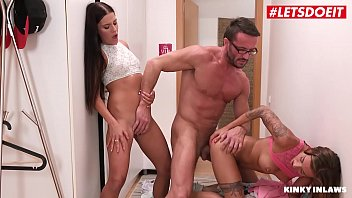 LETSDOEIT - Lucky Step Dad Gets Seduced and Fucked By His Twin Daughters